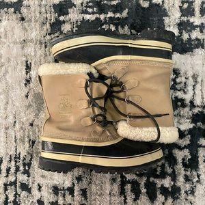 Sorel Kaufman Caribou Men's Leather Boots Size 11